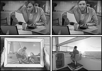Micah Ganske's People - B&W Tone storyboard art