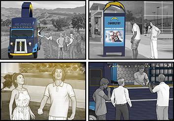 Micah Ganske's Events / Displays storyboard art