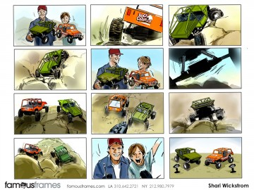 Shari Wickstrom's Kids storyboard art