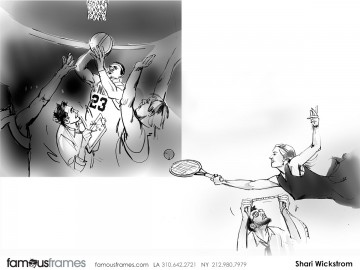 Shari Wickstrom's Sports storyboard art
