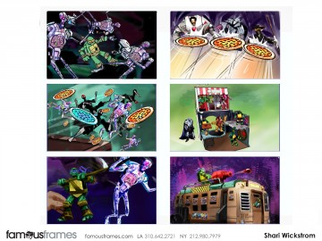 Shari Wickstrom's Toys storyboard art