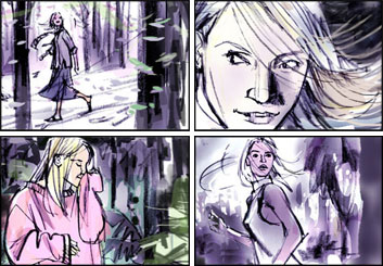 Shari Wickstrom's Beauty / Fashion storyboard art