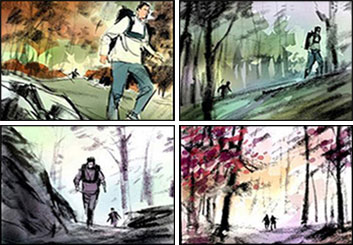 Shari Wickstrom's Environments storyboard art