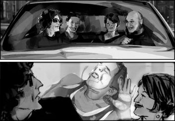 Shari Wickstrom's People - B&W Tone storyboard art