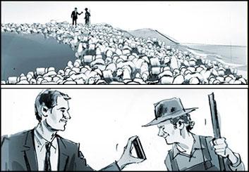 Shari Wickstrom's People - B&W Tone storyboard art