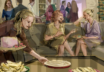 Shari Wickstrom's People - Color  storyboard art