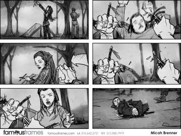 Micah Brenner*'s People - B&W Tone storyboard art