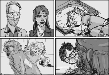 Micah Brenner*'s People - B&W Tone storyboard art
