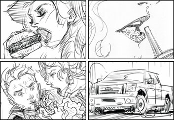 Micah Brenner*'s People - B&W Line storyboard art