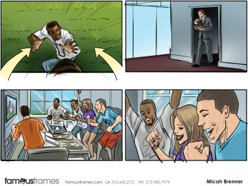 Micah Brenner*'s People - Color  storyboard art