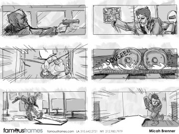 Micah Brenner*'s Action storyboard art