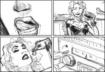 Micah Brenner*'s People - B&W Line storyboard art