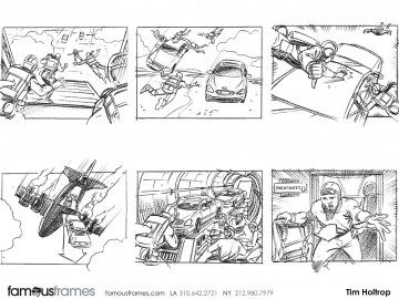 Tim Holtrop's Shooting Vehicles storyboard art