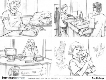 Tim Holtrop's People - B&W Line storyboard art