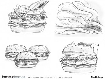 Tim Holtrop's Food storyboard art