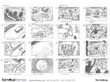 Tim Holtrop's Sports storyboard art