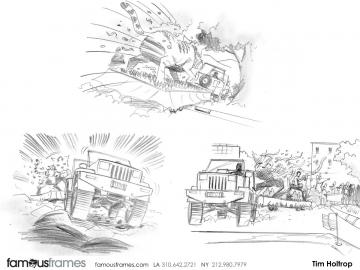 Tim Holtrop's Action storyboard art