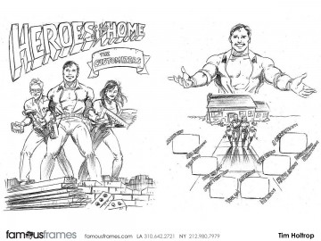 Tim Holtrop's Comic Book storyboard art