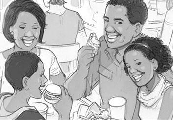 Kai Simons's People - B&W Tone storyboard art