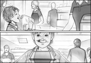 Kai Simons's Kids storyboard art
