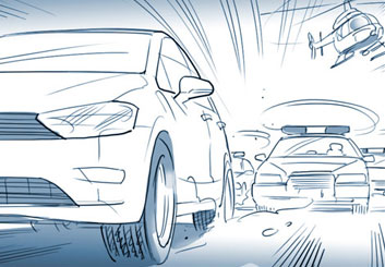 Kai Simons's Vehicles storyboard art