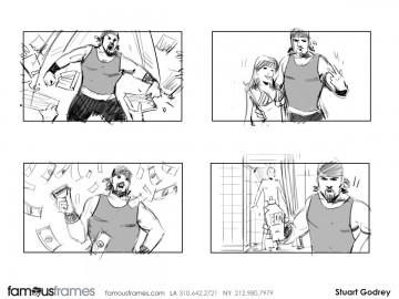 Stuart Godfrey's People - B&W Line storyboard art