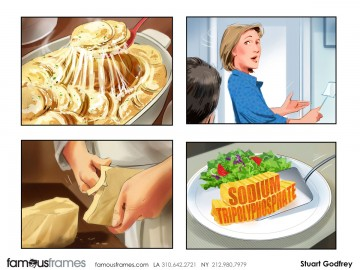 Stuart Godfrey's Food storyboard art