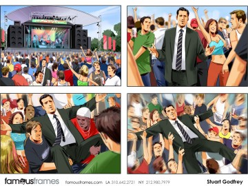 Stuart Godfrey's People - Color  storyboard art