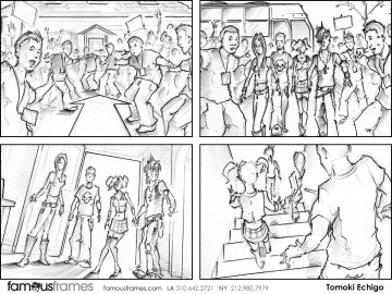 Tomoki  Echigo's Shootingboards storyboard art