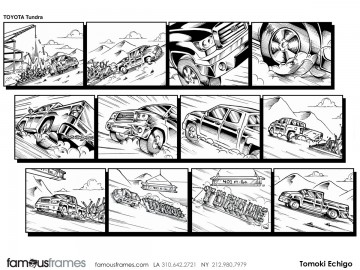 Tomoki  Echigo's Vehicles storyboard art