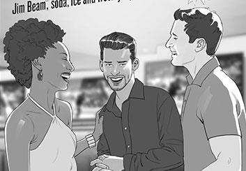 Victor Gatmaitan's People - B&W Tone storyboard art