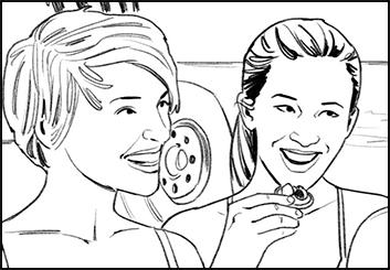Victor Gatmaitan's People - B&W Line storyboard art