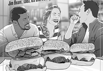 Victor Gatmaitan's Food storyboard art