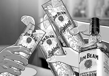 Victor Gatmaitan's Liquids storyboard art