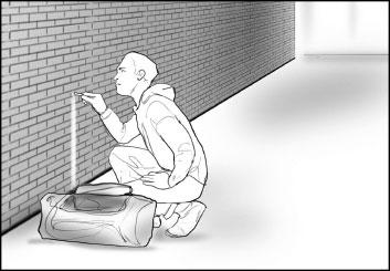 Peter Vu's People - B&W Line storyboard art