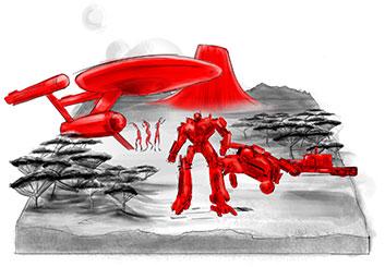 Peter Vu's Print Comps storyboard art