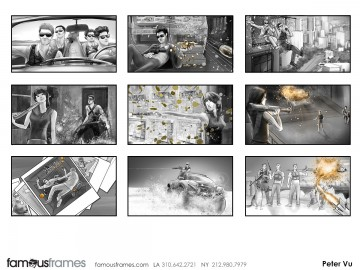 Peter Vu's Action storyboard art