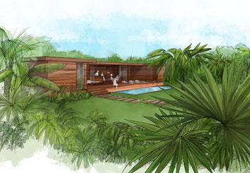 Peter Vu's Architectural storyboard art