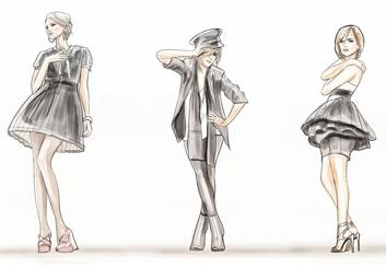 Peter Vu's Beauty / Fashion storyboard art