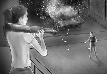 Peter Vu's People - B&W Tone storyboard art