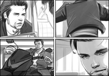 Rudi Liden's People - B&W Tone storyboard art