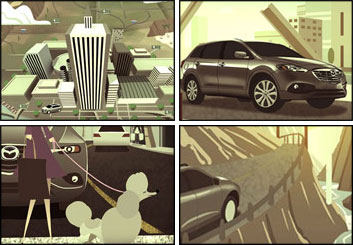 Wes Louie's Conceptual Elements storyboard art