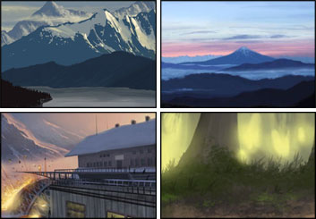 Wes Louie's Environments storyboard art