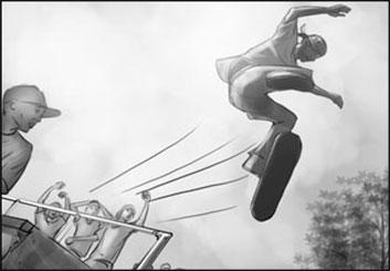 Wes Louie's Sports storyboard art