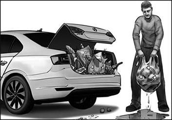 Wes Louie's Vehicles storyboard art