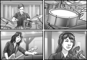 Jasper Yu's People - B&W Tone storyboard art