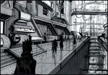 Eddy Mayer's Concept Environments storyboard art