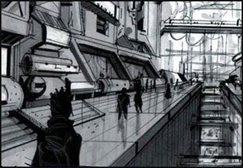 Eddy Mayer's Concept Environments storyboard art