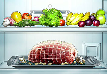 Eddy Mayer's Food storyboard art