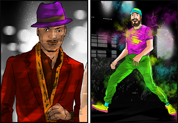 Eddy Mayer's People - Color  storyboard art